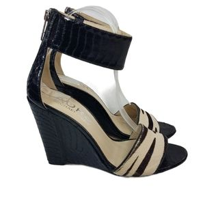 Kors Michael Kors Calf Hair Leather Wedges Size 7